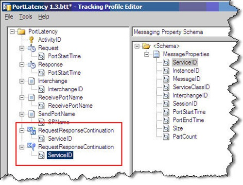 tracking profile using continuation 2